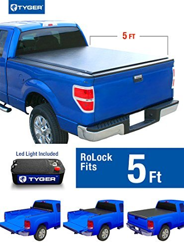 Tyger Auto TG-BC2N2079 RoLock Low Profile Roll-Up Truck Bed Tonneau Cover (For 2005-2015 Nissan Frontier 5' Bed Only) by Tyger Auto