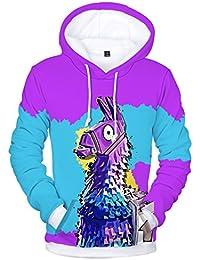 EMILYLE Unisex Fnite Kapuzenpullover Porträt Druck Hoodie Spiel Fans Sweatshirts  Coole Oberteile Streetwear für Männer Jungen 789aa93557