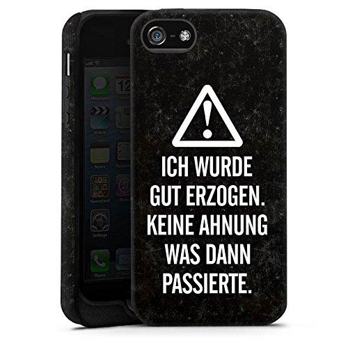 Apple iPhone X Silikon Hülle Case Schutzhülle Leben Spruch Humor Tough Case matt