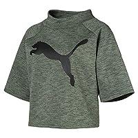Puma EVOSTRIPE Sweat Tee For Women - Green S