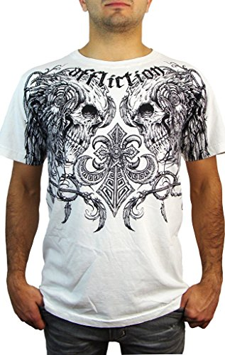 Affliction T-Shirt Santee Warrior Supertee Weiß Weiß