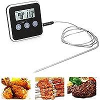 Portátil Digital electrónica barbacoa carne termómetro sonda de acero inoxidable barbacoa carne Sensor de temperatura