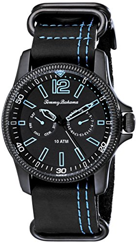 tommy-bahama-mens-10018317-paradise-pilot-multifunction-analog-display-japanese-quartz-black-watch