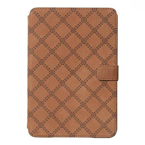 "Zenus Schutzhülle ""Vintage Quilt Diary"" in braun für Apple iPad Mini 3 / Mini Retina"