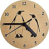 Azeeda 130mm 'Pinguin-Paare' Kleine MDF-Uhr (CK00024487)