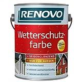 2,5 Liter Wetterschutzfarbe moosgrün RAL6005 RENOVO bis 10 Jahre Langzeitschutz - kein Consolan