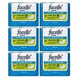 facelle diskret Hygiene-Einlagen extra plus 10 Stück, 6er Pack(6x10 Stk)