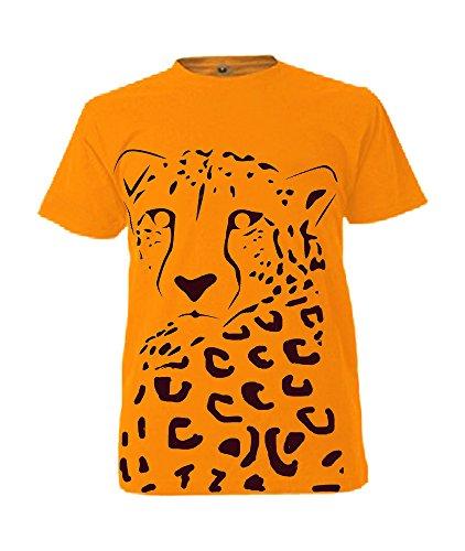 Bambini-Maglietta Stampata Lucy la Cheetah Orange 41-42