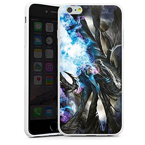 Apple iPhone X Silikon Hülle Case Schutzhülle Drache Eis Epic Silikon Case weiß