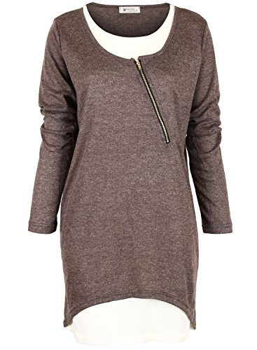 ililily-simple-long-sleeve-casual-scoop-neck-layered-shirt-with-diagonal-zippertshirts-144-2-3