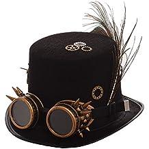 e087a9e1bdd66 BLESSUME Unisexo Steampunk Parte Superior Sombrero Cosplay Punk Partido  Sombrero de Copa (10 Estilos)