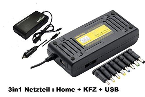 Adapter 3in1 Universal Netzteil 12-24V 100W Notebook/Handy/IPOD inkl. Stromkabel. Bitte unbedingt Steckermasse: Universalnetzteil 100 Watt (3in1) prüfen