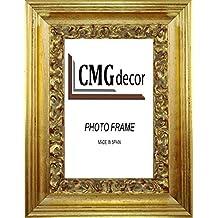 Portafotos de madera CMGdecor decorados en ORO a mano MODELO 409-50 (15 X