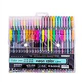 TriLance Glitter Gel Pens, Un paquet 48 stylos d Super Glitter Parfaits pour Les Livres de Coloriage pour Adultes, l'Art Thérapie Cadeau d'Anniversaire, Cadeau de la Rentrée...