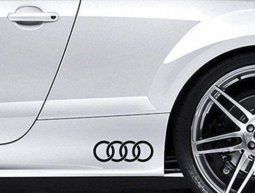 Preisvergleich Produktbild 2 x Audi Ringe Premium Seite Rock Vinyl Auto Aufkleber Aufkleber TT S3 S4 S5 S6 S8 S-line Quattro