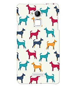 ColourCrust Coolpad Note 3 Mobile Phone Back Cover With Animal Print Pattern Style - Durable Matte Finish Hard Plastic Slim Case