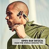 Aftershokz Trekz Titanium - Auriculares de conducción ósea inalámbricos Open-Ear (Orejas Libres) con Estuche de Transporte,Verde