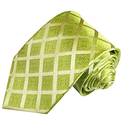 Cravate homme vert carreaux 100% soie