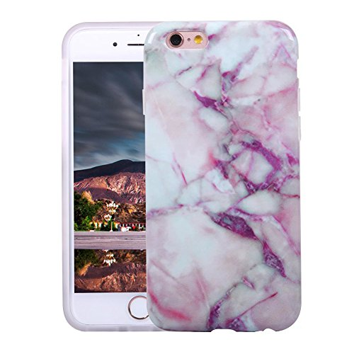 VMAE iPhone 6s Plus Case Ultral Slim Anti-Scratch Soft TPU Cover Print Crystal Stone Marble Pattern Hard Shockproof Case For iPhone 6 Plus / iPhone 6s Plus 5.5inch - Black&Gold pink