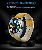 Huawei MediaPad T1 7.0 Compatible Bluetooth Smartwatch with SIM Card Support   Android 5.1 OS   Facebook   Whatsapp   Activity Tracker   Fitness Band   Music   Camera with Video Recording   Micro SD card Support by JIKRA