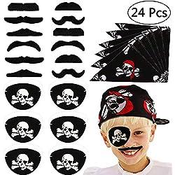Set de 24 piezas de complementos para pirata.
