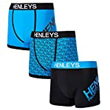 Henleys Mens 3 Pack Deluxe Boxer Shorts Stretch Jersey Underwear Set Trunks
