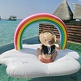 Ginkago Piscina gonfiabile gigante della nuvola del Rainbow Galleggiante con le valvole rapide Spiaggia di estate Piscina Party Lounge Zattera Decorazioni Giocattoli Giochi per adulti e bambini
