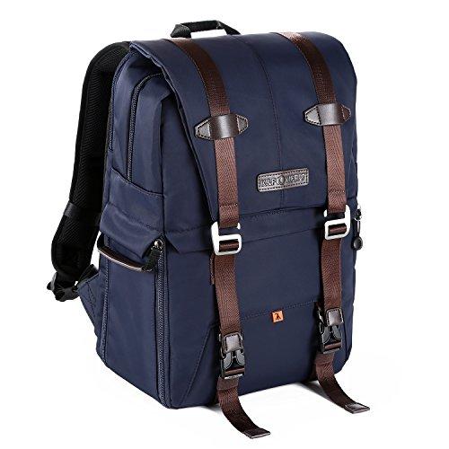 K&F Concept Kamerarucksack Reiserucksack Fotorucksack mit 2 getrennte Pakete Kameraeinsatz 27*17*44cm