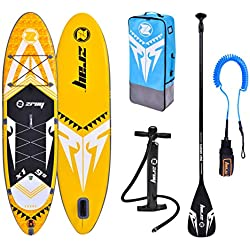 """Zray Sup X-Rider 9'9"""" Stand up, Paddle, Planche, Surf, Board Adulte Unisexe, Jaune, 297x76x15cm 9''x30''x6''"""