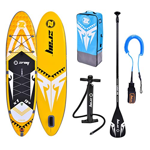 Zray Sup X-Rider 9'9' Stand up, Paddle, Planche, Surf, Board Adulte Unisexe, Jaune, 297x76x15cm 9''x30''x6''