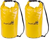 AceCamp Impermeable Pack Saco Daypack Flotante con Correa 10L, 20L, 30L, 50L, Doppelpack Gelb, 20 litros