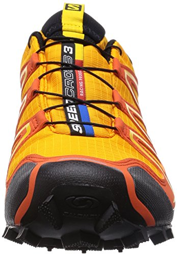 Salomon Speedcross 3 Gtx, Salomon Speedcross 3 GTX Dark Khaki Black Iguana Green 43 homme Orange