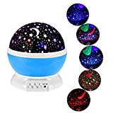 #2: Stvin Baby Sleeping Rotating Sky Moon Star LED Projector Night Light Projection Lamp With USB Cable