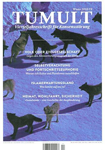 TUMULT-Vierteljahresschrift für Konsensstörung Winter 2018/19
