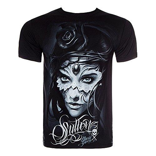 sullen-clothing-sullen-art-collective-herren-t-shirt-la-catrina-athena-schwarz-s
