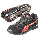 Puma Safety Shoes Silverstone Low S1P HRO SRC, Puma 642630-210-37 Herren Sicherheitsschuhe, Schwarz (schwarz/rot 210), EU 37