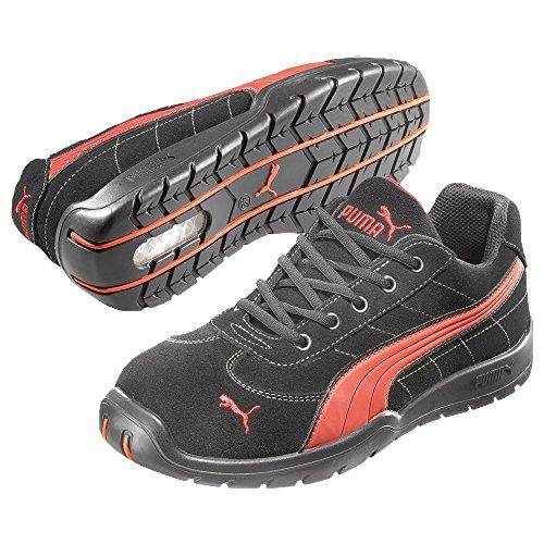 Puma Safety Shoes Silverstone Low S1P HRO SRC, Puma 642630-210-38 Herren Sicherheitsschuhe, Schwarz (schwarz/rot 210), EU 38 Warehouse Deals Schuhe Frauen