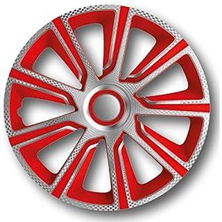 Autostyle Radzierblenden Radkappen Radabdeckung #VERON Carbon/Silber/Rot (14'')