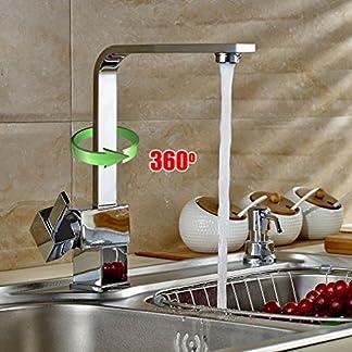 51x8dggAQ8L. SS324  - AuraLum Grifo de Cocina Negro 360 Giratorio para Cocina