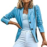 Jaysis Blazer Manteau Femme Chic Uni Sold Elegant Tailleur Travail Casual Costume...