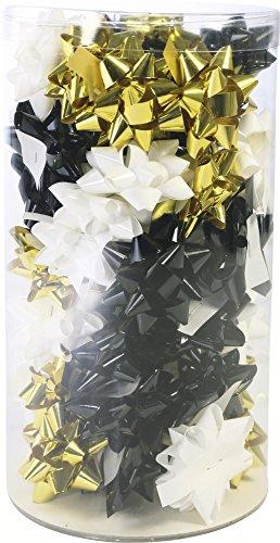 Clairefontaine 211395C Mini-tube de 50estrellas Navidad Chic diámetro 5cm, 3colores surtidos