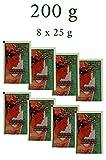 8er pack Marokkanische schwarze Seife Parfümfrei aus reinem Olivenöl 200 Gramm (8 x 25 g) | Hamam...
