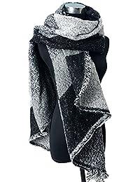 Demarkt Femme Echarpe Châle Grand Mode Stole Plaid en Laine Tissu Glands écharpe 200x70cm