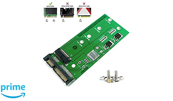 Support B /& M Key SATA Based Solid State Hard Drive Model 2230 2242 2260 2280 NGFF SSD Converter to 2.5 Or 3.5 inch SATA3.0 for Laptop Or Desktop QNINE M.2 to SATA Adapter Card