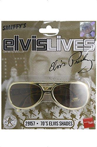 Elvis-Sonnenbrille Gold, One (Sonnenbrille Presley Elvis)
