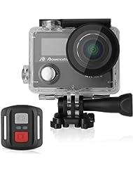 Powerextra Camera Sport 4K Caméra d'Action Ultra HD Caméscope Casque Imperméable /2 Inch Ecran LCD /Grand Angle 170°/12MP & WIFI /Étanche 30M /2.4G Télécommande/2 Batteries Rechargeables/19 KITS Accessories