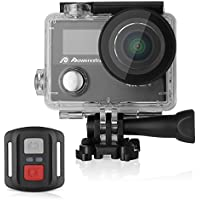Powerextra Caméscope Sport Camera de Sport Caméra d'Action Appareil Photo Ultra HD 1080p Casque Imperméable /2 Inch Ecran LCD /Grand Angle 170°/12MP & WIFI /Étanche 30M /2.4G Télécommande/19 KITS Accessories