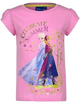 T-shirt Disney Frozen Bambina 4/8 anni Rosa chiaro (8 anni, Rosa chiaro)