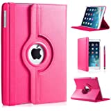 Apple Ipad Mini 360 rotation case with Screen Protector DN-TECHNOLOGY® (iPad Mini / Mini 2 / Mini 3 (2014), Pink)