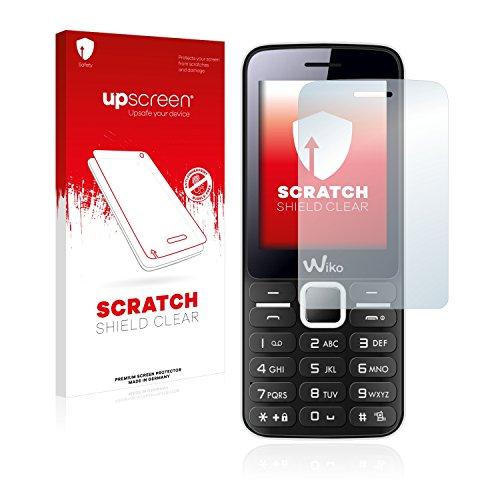 upscreen Schutzfolie kompatibel mit Wiko Riff - Kristallklar, Kratzschutz, Anti-Fingerprint